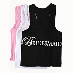 Bride Gifts-Bride Bridesmaid 100% Cotton Apparel Wedding Wedding Gifts Beautiful