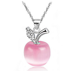 cheap Necklaces-Work European Pendant Necklace Crystal Gemstone & Crystal Silver Opal Pendant Necklace ,