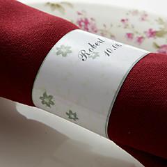 gepersonaliseerde papieren servetring - bloemenpatroon (set van 50) huwelijksreceptie