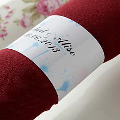 gepersonaliseerde papieren servetring - mooie lente (set van 50) huwelijksreceptie