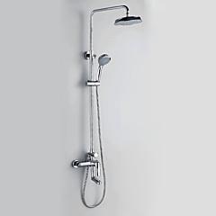 krómozott modern stílusú fali zuhany csaptelepek átmérője 20cm zuhanyfej + kézi zuhany