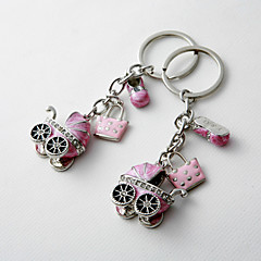 Baby Shower Party Favors & Gifts-4Stuk/Set Sleutelhangerbedankjes Chroom Gepersonaliseerd Roze