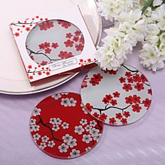 szép sakura üveg poháralátét szívességek (2 db)