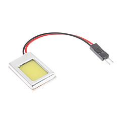 billige Interiørlamper til bil-T10/BA9S/Festoon 1W COB LED pære til bil leselampe med naturlig hvitt lys (12V)