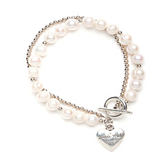 cheap Bracelets-Pearl Strand Heart Bracelet Wedding Party Elegant Feminine Style