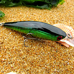 "1 pcs Hard Bait Minnow Fishing Lures Minnow Hard Bait Green Gold Red g/Ounce mm/3-1/2"" inch,Hard Plastic Sea Fishing Freshwater Fishing"