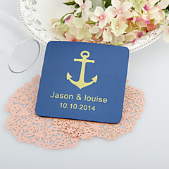 Personalized  Anchor Wedding Coasters-Set of 4(More Colors) Wedding Favors