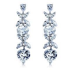 levne Náušnice-S & V Dámský Roztomilý srdce Hand Made zirkon Náušnice Crystal Stud