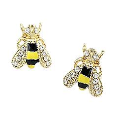 お買い得  レディース  ジュエリー-女性用 合成ダイヤモンド ノーズスタッドピアス / スタッドピアス - ラインストーン, ゴールドメッキ, イミテーションダイヤモンド アニマル ぜいたく, ファッション, かわいいスタイル イエロー 用途