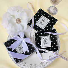 cheap Coaster Favors-Glass Square Shaped Coaster Favors - 2 Piece/Set Classic Theme