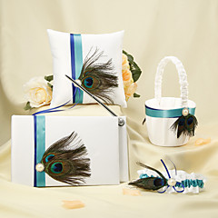 Carte de Oaspeți Set stilou Pernuță inel Coș de Flori(SatinTemă Basme
