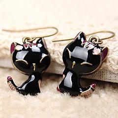 Damen Tropfen-Ohrringe nette Art Harz Aleación Tierform Katze Schmuck Für Alltag