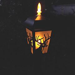 3pcs Gele LED Flickering Light zonne-energie gazon licht Garden Light Deer Pattern