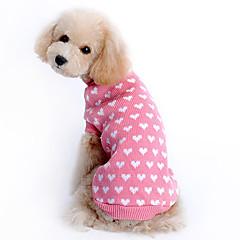 Maglioni Abbigliamento per cani Con cuori Rosa Lanetta Costume Per Husky Labrador golden retriever Inverno Da ragazza Tenere al caldo