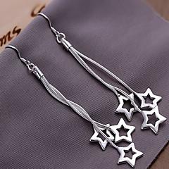 Moda Alaşım Gümüş Kaplama Yıldız Küpe