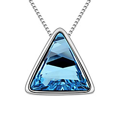 cheap Necklaces-Xingzi Women'S 40Cm Blue Crystal Necklace 6775