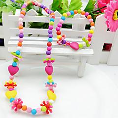 baratos Conjuntos de Bijuteria-Conjunto de jóias - Cruz, Coração, Amor Colorido Incluir Arco-íris Para Festa