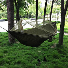 cheap Camping Furniture-Camping Hammock with Mosquito Net Outdoor Camping Portable, Windproof, Ultra Light (UL) Canvas / Nylon Hunting, Fishing, Hiking for 2 person