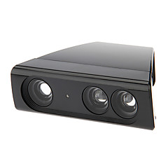 billiga Xbox 360-tillbehör-Zoom Play Range Reduction Objektiv Vidvinkel adapter för Xbox 360 Kinect Sensor Minska Room Space (Svart)