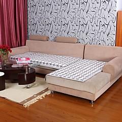 billige Hjemmetekstiler-elaine bomull kf sjekk mønster BORDURE grå sofa pute 333727