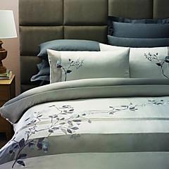 Dekbedovertrek set, 3-delig Land Takken Borduren Polyester