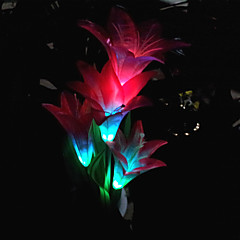 4 stuks rgb kleur veranderende led's op zonne-energie tuinlamp in bloei ontwerp