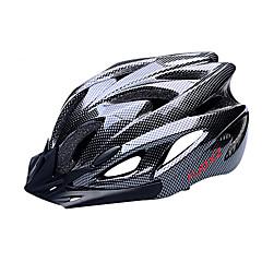 お買い得  自転車用ヘルメット-FJQXZ 大人 バイクヘルメット 18 通気孔 耐衝撃性, リムーバブルバイザー EPS, PC スポーツ ロードバイク / サイクリング / バイク - ブラック 男性用 / 女性用