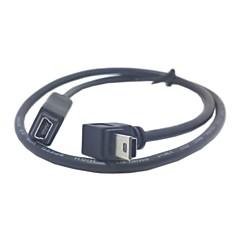 abordables -GPS Mini USB 5Pin de 90 degrés vers le bas Direction Mâle Femelle angle de câble de rallonge 50cm