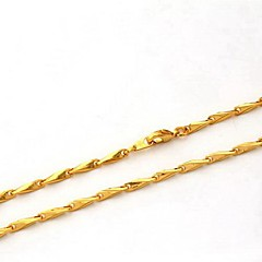 U7® Men's 18K Chunky Gold Filled Choker Necklaces Gold Plated High Quality 3.5MM 50CM