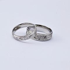 Homens Mulheres Anéis de Casal Aço Titânio Forma Redonda Jóias Para Diário Casual