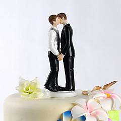 billige Kakedekorasjoner-Kakepynt Klassisk Tema Samme Kjønn Harpiks Bryllup med PVC Veske
