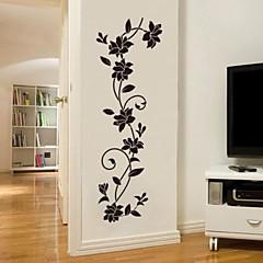 Romantik Mode Botanisk Vægklistermærker Fly vægklistermærker Dekorative Mur Klistermærker, Vinyl Hjem Dekoration Vægoverføringsbillede Væg