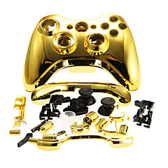 黄金のXbox 360ワイヤレスコントローラ用の交換用ハウジングケースカバー