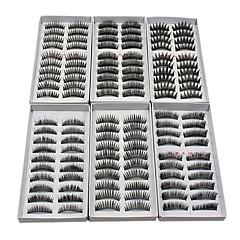 Βλεφαρίδα Ψεύτικες βλεφαρίδες 120 pcs Volumized / Φυσικό / Χοντρό Βλεφαρίδα Κλασσικό Καθημερινά Μακιγιάζ Καλλυντικό