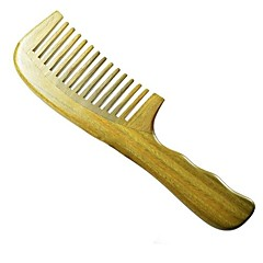 High Quality 20X5cm Brazil Green Sandalwood Wooden Comb Health Comb