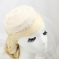 成人用 フラワーガール レース 人造真珠 綿ネル かぶと-結婚式 パーティー 屋外 ヘッドドレス ハット