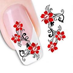 1 Nail Art matrica Víz Transfer matrica Virág Esküvő smink Kozmetika Nail Art Design