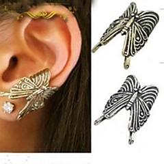 Ear Cuffs Styl Punk Modny Stop Animal Shape Motyl Silver Golden Biżuteria Na Impreza Codzienny Casual