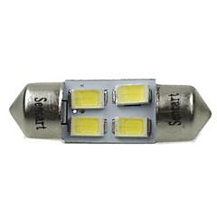 billige Interiørlamper til bil-31mm Bil Elpærer 2W SMD 5730 120-160lm 4 LED interiør Lights For Universell