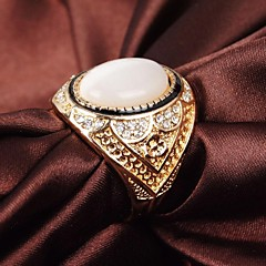 cheap Rings-Men's Statement Ring Fashion Rhinestone Silver Plated Gold Plated Alloy Costume Jewelry Christmas Gifts Party Daily Casual