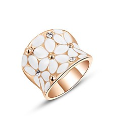 Yüzükler Düğün / Parti / Günlük Mücevher Kristal / Altın Kaplama Kadın İfadeli Yüzükler6 / 7 / 8 Altın / Gümüş