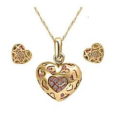 baratos Conjuntos de Bijuteria-Mulheres Conjunto de jóias Brincos / Colares - Festa / Casual Dourado / Prata Conjunto de Jóias Para