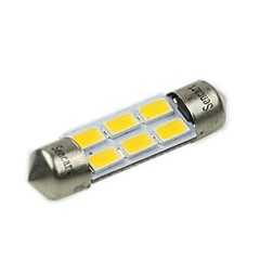 billige Interiørlamper til bil-36mm Bil Elpærer 3W W SMD 5730 180-220lm lm 6 LED interiør Lights ForUniversell