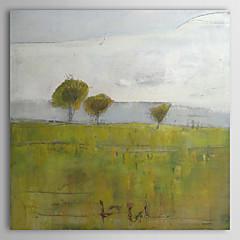 Kézzel festett Landscape / Absztrakt tájkép Egy elem Vászon Hang festett olajfestmény For lakberendezési
