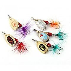 billiga Fiskbeten och flugor-5 st 4g öring fiske tackla verktyg skedar beten fiskedrag