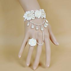 Bryllupsblomster Rund Håndledscorsage Bryllup Blonde Perle