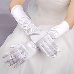 joustava satiini kyynärpää pituus käsine morsius käsineet klassinen naisellinen tyyli