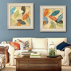 baratos Quadros com Moldura-Floral/Botânico Quadros Emoldurados / Conjunto Emoldurado Wall Art,PVC Beje Sem Cartolina de Passepartout com frame Wall Art