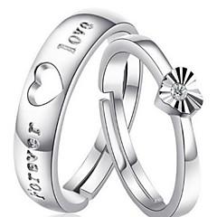 Ringen Heren / Stelletjes / Dames Kristal Zilver Zilver 7 Zilver
