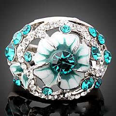 olcso Vallomás gyűrűk-Női Nyilatkozat gyűrű - Kocka cirkónia, Hamis gyémánt Luxus, Divat Egy méret Világoskék / Képernyő Szín Kompatibilitás Parti